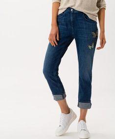 BRAX - Montana S - Jeans avec papillons brodées - Indigo Montana, Indigo, Lady, Jeans, Fashion, Sportswear, Papillons, Fall Winter, Moda