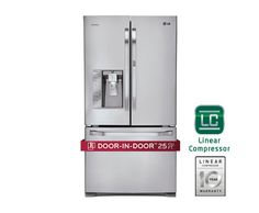 LG LSFD2591ST: LG Studio – Ultra-Large Capacity Counter-Depth 3 Door French Door Refrigerator with Door-in-Door™ | LG USA