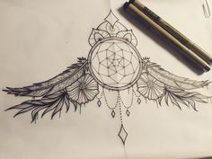"""Dream catcher sternum design #tattoo #tattooflash #tattoodesign #illustrated #illustrator #illustration #illustratorsoninstagram #instadrawing…"""