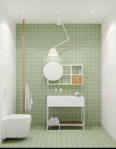 40 bagni moderni in stile minimalista - arredamento moderno - Rebel Without Applause Minimalist Bathroom Design, Modern Bathroom Design, Bathroom Interior Design, Modern Minimalist, Bathroom Designs, Modern Bathrooms, Small Bathrooms, Green Bathrooms, Small Rooms