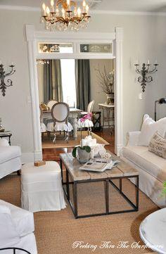 Savvy Southern Style: My Favorite Room....Peeking thru the Sunflowers