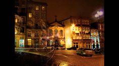 Vistas da Cidade Invicta Porto à Noite - PORTUGAL -  Verde Vinho - Paulo...