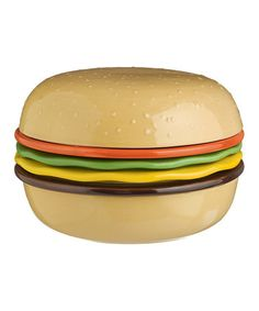 This Burger Tidbit Plates & Bowls Set is perfect! Fun for an outing and shows how trendy you are. #zulilyfinds #novelty #grilling