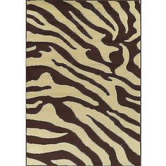 $80.00 Carlisle Collection Zebra Area Rug, Brown and Beige a little smaller than what i was hoping for but the price and colors are right (waiting for it to come in stock)