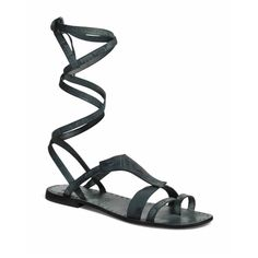 Free People Gladiator Sandals Free People 'Oliviera' Gladiator Sandal (Women) Dusty Teal To achieve a look that wraps up the leg, cross straps around back of ankle and twist; then bring straps around front or side and tie. The twist will prevent straps from sliding down -Leather upper and lining/rubber sole. brand new! Perfect to pair with a flowy dress or cut off shorts! New with box! Free People Shoes Sandals