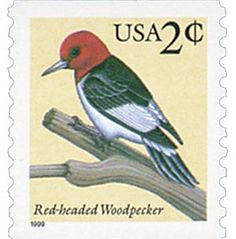 #3045 – 1999 2c Red-headed Woodpecker for sale at Mystic Stamp Company