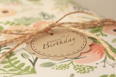 Happy Birthday Gift Tag and Jute Bundle by KraftandRoseate on Etsy, $3.00