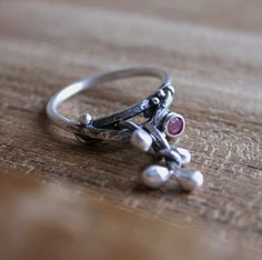 Grow  Sterling Silver Ruby Ring by studio94