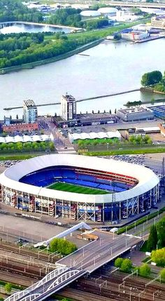 Feyenoord Stadion - Rotterdam - The Netherlands - bewri Rotterdam Netherlands, Holland Netherlands, Travel Netherlands, South Holland, Soccer Stadium, Football Stadiums, The Beautiful Country, Beautiful Places, European Football