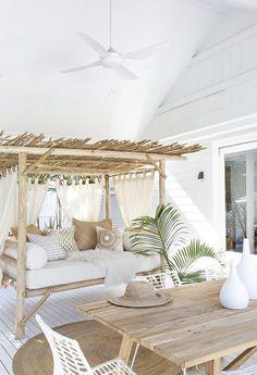 Boho Living Room, Living Spaces, Beach House Decor, Diy Home Decor, Beach Houses, Beach Apartment Decor, Decor Room, Beach Cottages, Modern Beach Decor