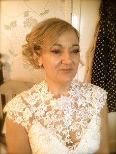 Hair by Nicky McKenzie for lovely Bride Niki www.hairbynickymckenzie.co.uk Bridal Hair Up, Lace Wedding, Wedding Dresses, Up Hairstyles, Bride, Fashion, Bridal Dresses, Moda, Bridal Gowns