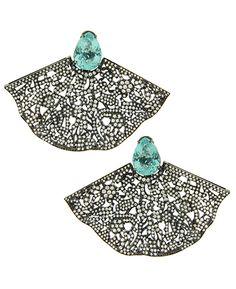 Silvia Furmanovich: Paraiba tourmaline and diamonds earrings Créditos: Divulgação