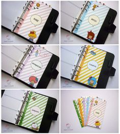 SIZE PERSONAL Top Tabs Personalised Dividers por CuteOrganizing
