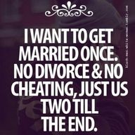 marriage is for life!