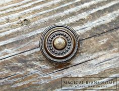 Vintage Industrial Farmhouse Antiqued Brass Furniture Knobs by www.MagicalBeansHome.com