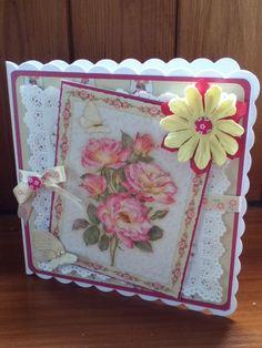 Handmade card using Heart of the garden cd rom by Joanna Sheen