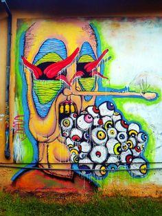 Graffiti in Banos, Ecuador