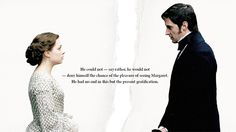 John Thornton & Margaret Hale of Elizabeth Gaskell's North and South Elizabeth Gaskell, North And South, John Thornton, Look Back At Me, Mr Darcy, At A Glance, Classic Literature, Poldark, Richard Armitage