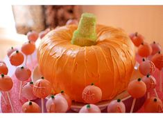 """A little pumpkin is on the way!"" baby girl shower, psst, love the guestbook idea"