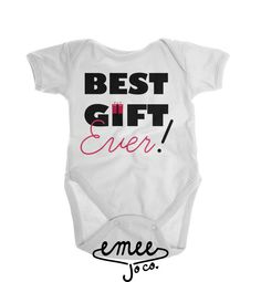 Best Gift Ever! Baby girls are the best gift ever! Celebrate your baby girls first Christmas with our girly themed Christmas baby outfit. If youd like