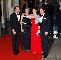 (L-R) Prince Bernhard with his wife Princess Annette, his sister in law Princess Anita and his younger brother Prince Pieter Christiaan of the Netherlands
