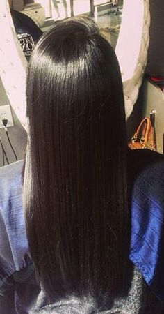 straightened natural hair. I WANT LENGTH!!!