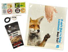 No Fur Activist Pack, $7.00 #PETA #activism