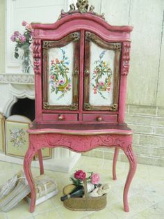 Miniature French Cabinet.