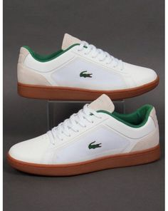Lacoste Endliner Trainers White/gum,shoes,sneakers,mens,classic How should the right shoe choice be? Sneakers Fashion, Fashion Shoes, Shoes Sneakers, Mens Fashion, White Sneakers, Classic Sneakers, Sneakers Design, Leather Sneakers, White Trainers Men