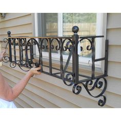Vintage Wrought Iron Flower Window Boxes - Pair - Image 3 of 10