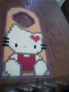 Hello Kitty door hanger perler beads by crissyboo