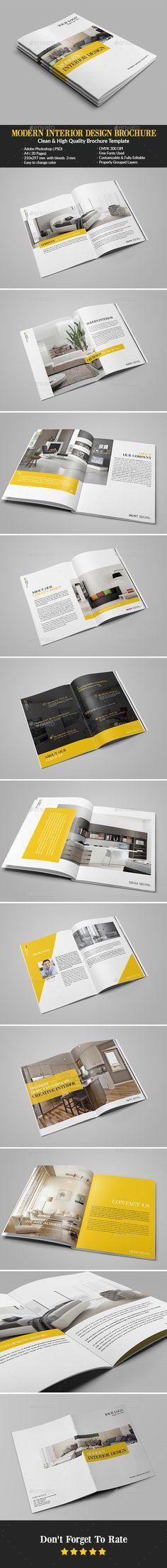 Modern Interior Design Brochure / Catalog Template PSD. Download here: http://graphicriver.net/item/modern-interior-design-brochurecatalog/14865053?ref=ksioks
