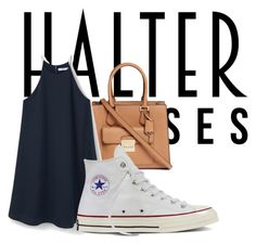 """""""Untitled #63"""" by mollytapper ❤ liked on Polyvore featuring Michael Kors, MANGO, Converse and halterdresses"""