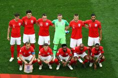 The England players pose for a team photo prior to the 2018 FIFA World Cup Russia Place Playoff match between Belgium and England at Saint Petersburg Stadium on July 14 2018 World Cup 2018, Fifa World Cup, Saint Petersburg, Petersburg Russia, England Players, John Stones, Harry Kane, July 14, Team Photos