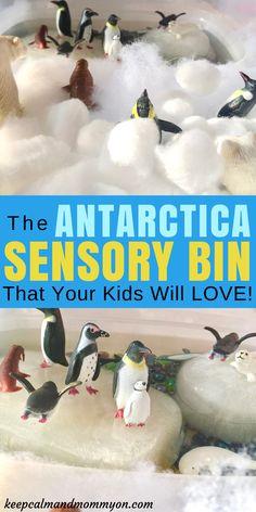 The Antarctica Sensory Bin That Your Kids Will Love! Sensory Bin Ideas, Sensory Activities For Kids, Sensory Activities For Toddlers, Sensory Activities For Preschoolers, Sensory Activities For Kindergarteners, Water Play Ideas, Making Learning Fun