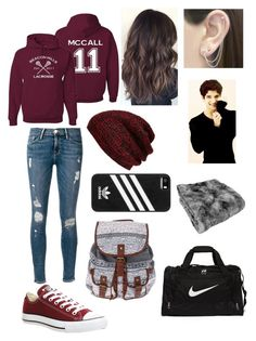 """Watching Scott McCall's Lacrosse Game"" by learning-to-love ❤ liked on Polyvore featuring Frame Denim, Converse, NIKE, adidas, King & Fifth Supply Co. and Otis Jaxon"