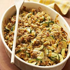 Zucchini-Sausage Casserole: A quick casserole perfect for a weeknight meal (and for using up extra zucchini!).