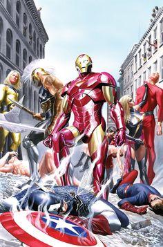 #Avengers #Fan #Art. (Avengers Invaders) By: Alex Ross.
