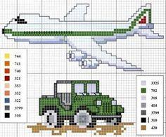 Continuando...  Seguem os gráficos com carrinhos, caminhões, tratores, moto,aviões e até foguete..