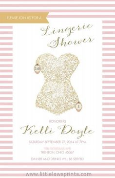 Lingerie Shower Invitation by LittleLawsPrints on Etsy
