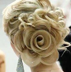 Hair up in flower bun