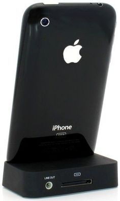Black Charging Dock Cradle for Apple iPhone 4 with audio output