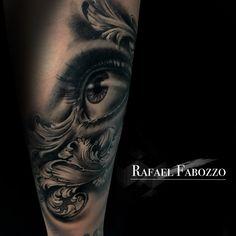 Realistic Eye Tattoo by Rafael Fabozzo Eye Makeup Cut Crease, Eyeliner, Realistic Eye Tattoo, Hazel Brown Eyes, Eye Shadow Application, Eye Anatomy, Shadow Tattoo, Makeup Drawing, Eye Logo