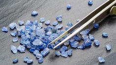 Smaller sapphires, like these uncut ones, are prevalent in Sri Lanka