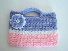 pink crochet purse - Google Search
