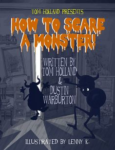 How to Scare a Monster! children's book illustration.