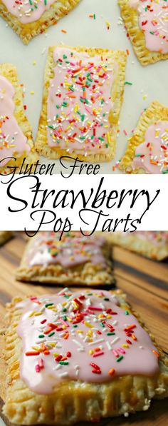 Gluten Free Strawberry Pop Tarts! Seriously delicious and relatively easy to make too! #glutenfree