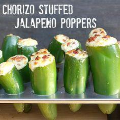 Chorizo Stuffed Jalapeno Popper