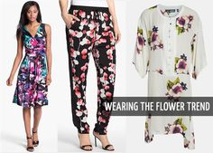 how to wear the flower trend!