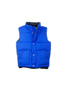 Pumpkin Patch - jackets - zip up puffer vest - W5TB40001 - electric blue - 12-18m to 5